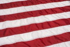 Red and white stripes on american flag Stock Photos