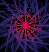 Black background atomic design vector art Stock Illustration