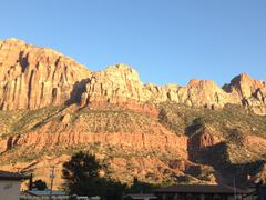 Zion Canyon UT - The Watchman scenic view - stock photo