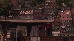Stock Video Footage of 0109-Rio-Favela-Brazil-Houses-Street-Landscape-Lifestyle