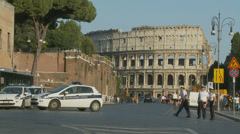 Rome's traffic police at work 3 (slomo) Stock Footage