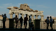 Stock Video Footage of Tourists hang out above Rome Ancient city 5 (slomo)