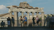 Stock Video Footage of Tourists hang out above Rome Ancient city 2 (slomo)