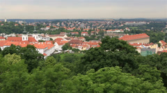 Panorama of historical center of prague (view from the petrin lookout tower) Stock Footage