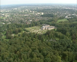 Stock Video Footage of Aerial of Het Loo Palace, Palace Gardens and park