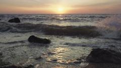 Sunset above the sea - stock footage