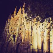 vintage look westminster abbey - stock photo
