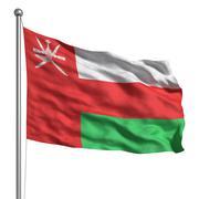 flag of oman - stock illustration