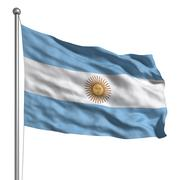 flag of argentina - stock illustration