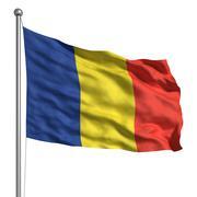 Romanian lippu Piirros