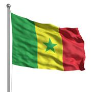 flag of senegal - stock illustration