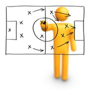 Soccer strategy Stock Illustration