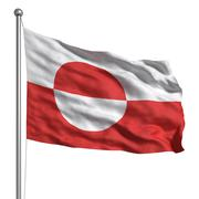 Stock Illustration of flag of greenland