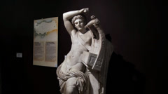 Apollo Statue at the Archaeology Museum Stock Footage