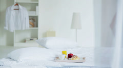 Breakfast at Bed Stock Footage