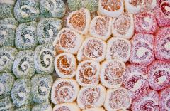 colorful traditional turkish delights - stock photo