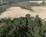Stock Video Footage of Aerial shot sand dunes in drift sand area Kootwijkerzand, The Netherlands