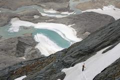 austria, carinthia, view of pasterze glacier - stock photo