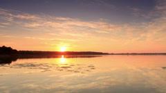 Sunset on the lake Mstino Stock Footage