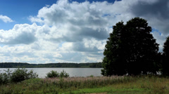Movement of clouds over the lake Moiseevskoe, Stock Footage