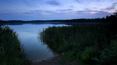 Sunset on the lake Moiseevskoe Stock Footage