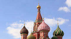 Cathedral of St. Vasily the Blessed. Stock Footage