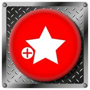 Add to favorites metallic icon Stock Illustration