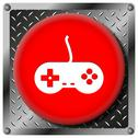 Stock Illustration of gamepad metallic icon