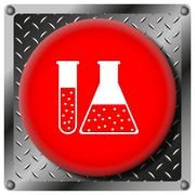 chemistry set metallic icon - stock illustration