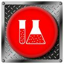 Stock Illustration of chemistry set metallic icon