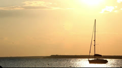 Beautiful Sunset Above The Sea - stock footage