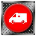 Stock Illustration of ambulance metallic icon