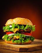 Stock Photo of traditional homemade hamburger