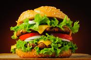 Stock Photo of traditional hamburger