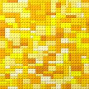 Toy bricks color background - yellow Stock Photos