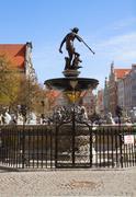 the neptune, gdansk - stock photo