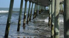 Under ocean pier Stock Footage