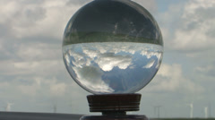 Crystal bowl and sky Stock Footage
