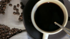 Fresh brewed Coffee. Stock Footage
