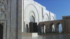 Hassan II mosque Casablanca Morocco Stock Footage