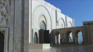 Stock Video Footage of Hassan II mosque Casablanca Morocco