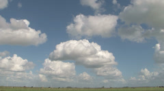 Timelapse clouds blue sky sheep clouds Stock Footage