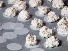 baking merinques - stock photo