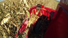 Maize Harvesting Machine Stock Footage