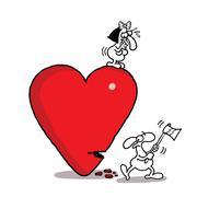 Destroying Love - stock illustration