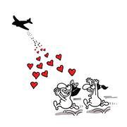 Love aid - stock illustration