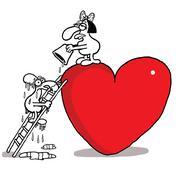 Love climbing Stock Illustration