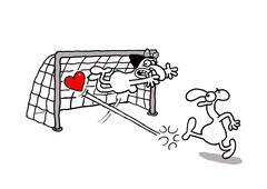 Love goal - stock illustration