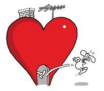Love kick Stock Illustration