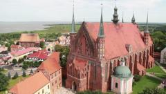 Frombork, Cathedral Hill, Poland - Panorama Stock Footage